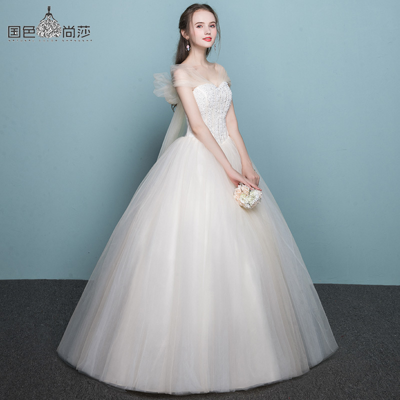 Wedding dress 2018 new Korean version of Qi Europe and America ...