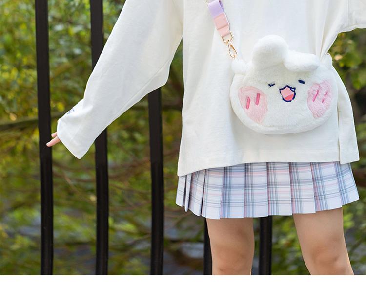 歪瓜出品软萌兔玩偶包包可爱小兔子毛绒学生斜挎新款网红同款包详细照片