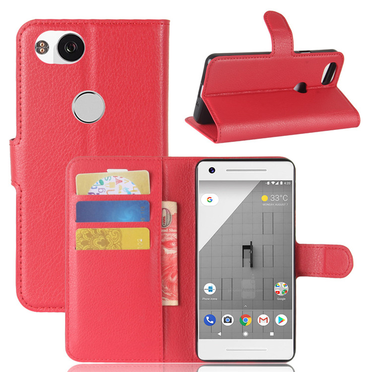 Wallet Style PU Case For Google Pixel 2 Flip Leather Cover For Google Pixel 2 With Card Slot Stander