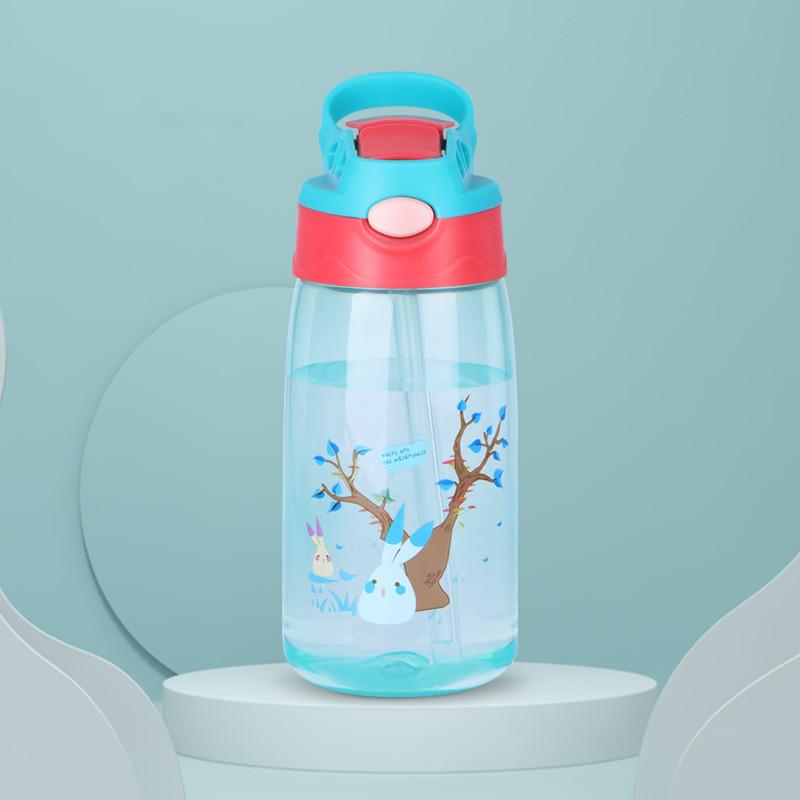 夏季儿童水杯宝宝吸管杯家用男女幼儿园小学生防摔便携水壶塑料杯