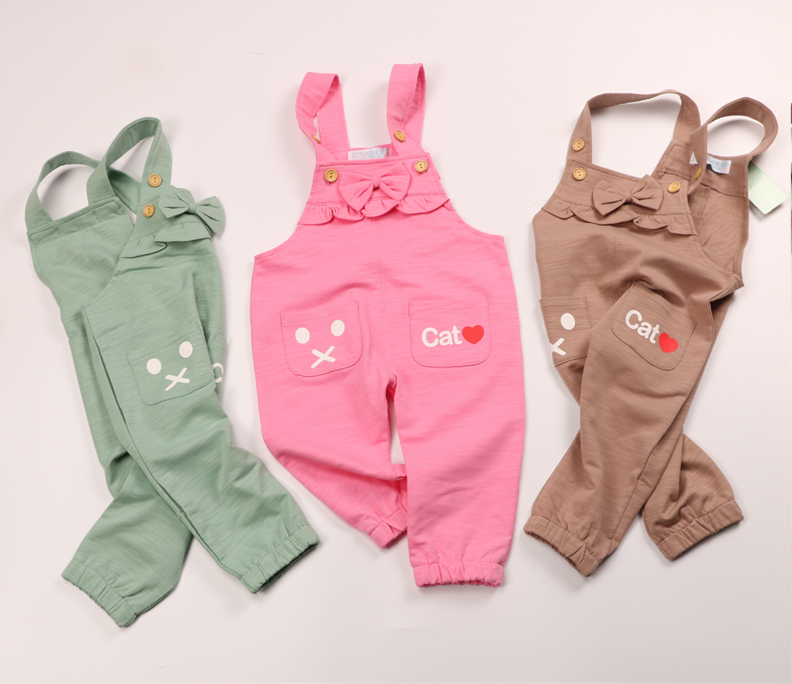 Qingcang processing Tianyuan Jiabao baby belt pants cotton spring and autumn children's pants children's casual high-bullet pants.