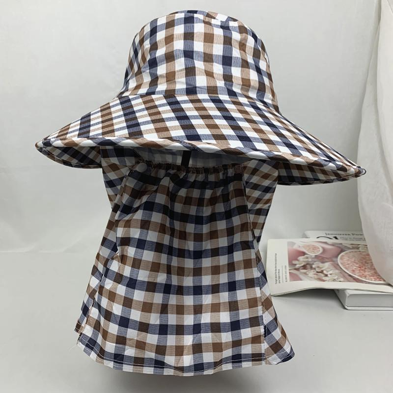 防曬帽子女戶外採茶帽騎電動車遮臉護頸太陽帽防紫外線可拆卸涼帽=美佳惠