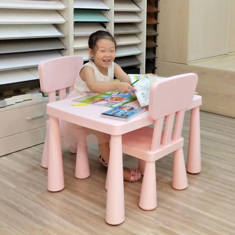 宜家用幼儿园儿童宝宝桌椅桌子椅子塑料套装学习桌儿童玩具桌加厚