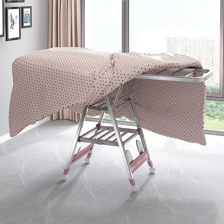 不锈钢晾衣架落地折叠室内阳台家用凉衣服架婴儿挂晾晒被子神器杆
