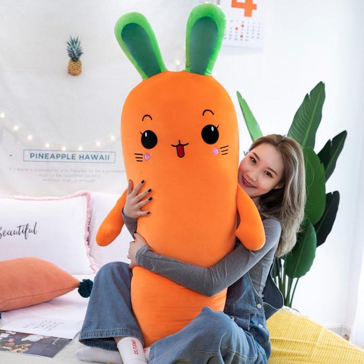 兔子胡萝卜毛绒玩具睡觉抱枕可爱生日礼物女生布娃娃玩偶公仔床上