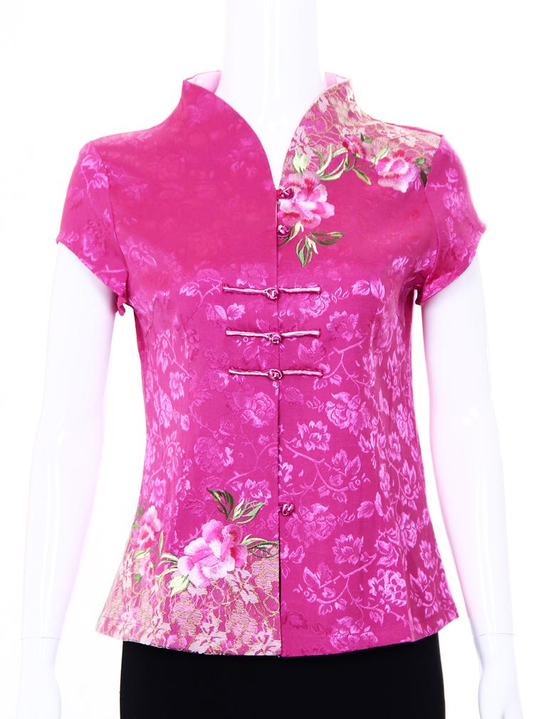 Блузка в китайском национальном стиле 1201