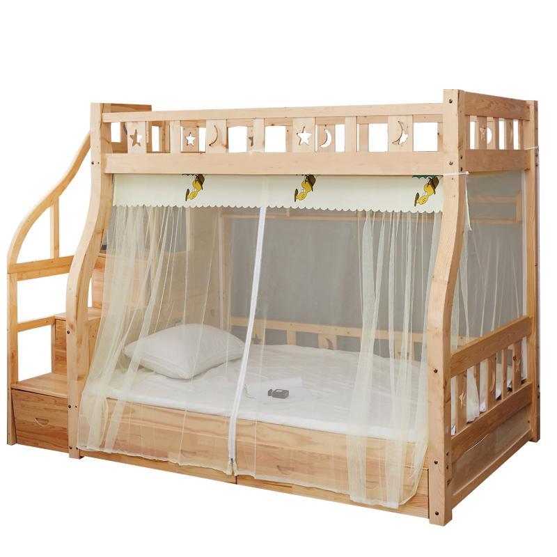 儿童上下床新款加密高低床上下铺双层床子母床蚊帐家用1.2米1.5m_领取10元淘宝优惠券