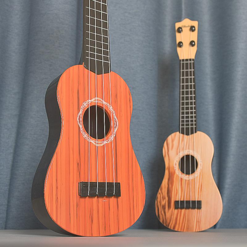 儿童音乐小吉他可弹奏中号尤克里里仿真乐器琴男女宝宝玩具3-12岁(【尤克里里】42cm儿童弹奏乐器小吉他)