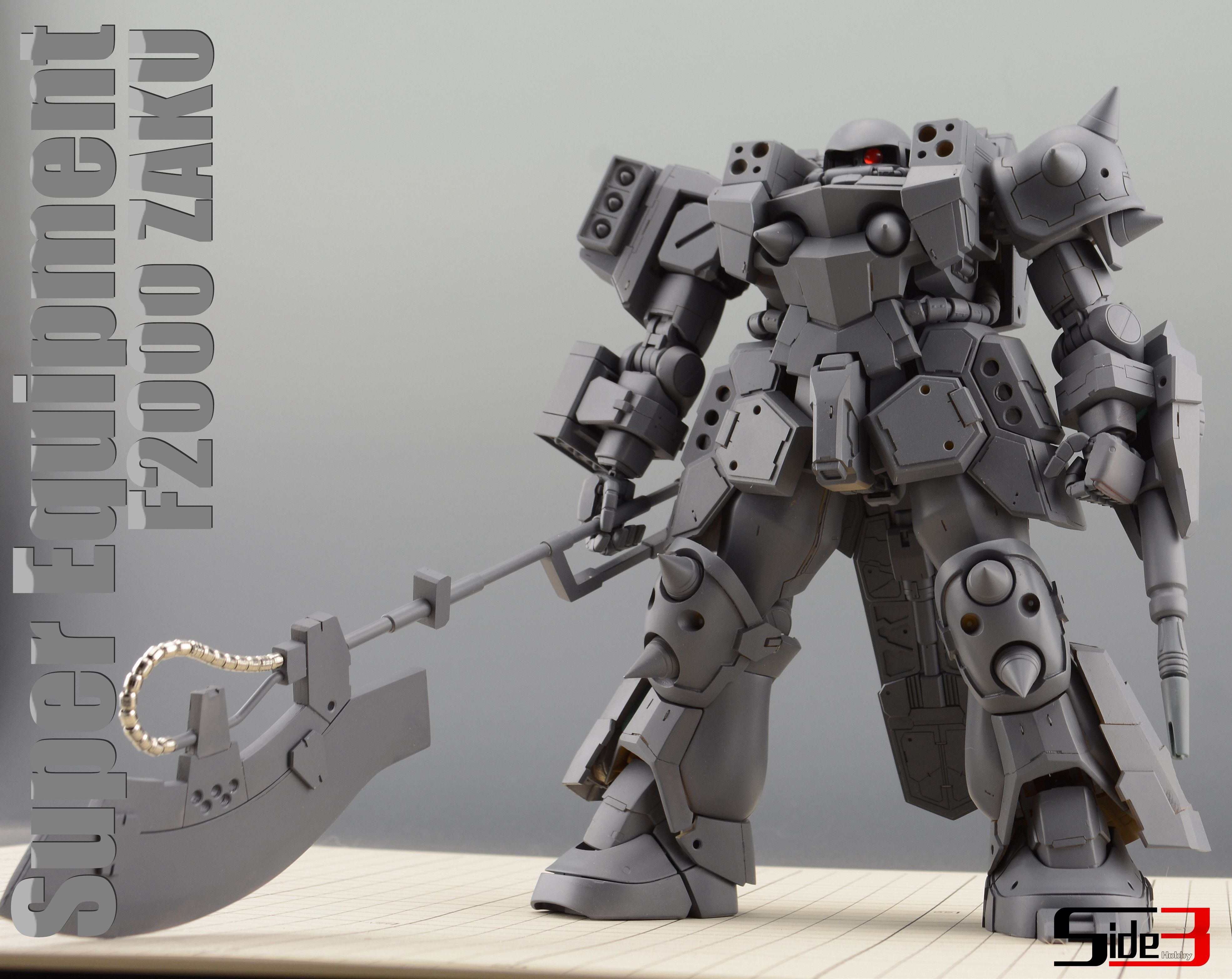 SIDE3 1/100 SUPER EQUIPMENT F2000 ZAKU RESIN CONVERSION KIT