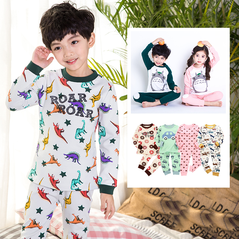 7a9ca5facae9 USD 33.96  Children s underwear set Cotton Boys Girls autumn clothes ...