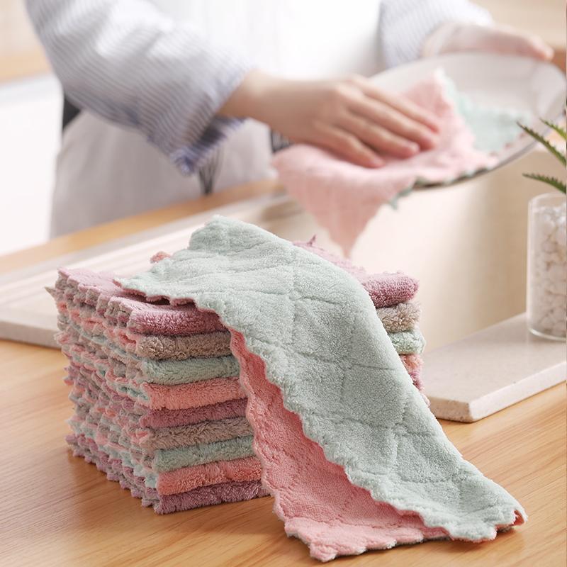 厨房洗碗布抹布家用家务清洁用品魔术洗完巾神奇不沾油不掉毛去油