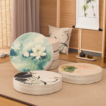 Autumn and winter futon household cushion tatami round thickening can be disassembly and washing Buddha