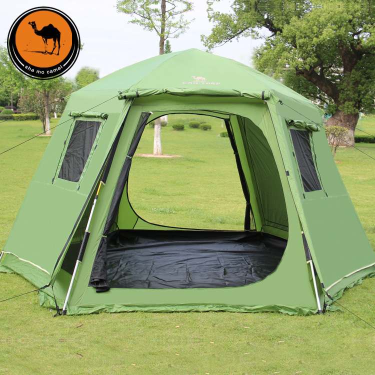 Camel outdoor hexagonal automatic tent free set up a double 3-4 people 5 people 6-8 people tent anti-cold winter season & USD 132.88] Camel outdoor hexagonal automatic tent free set up a ...