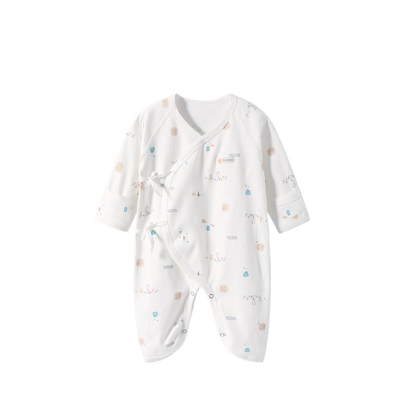 童泰婴儿连体衣纯棉春秋薄款新生婴儿衣服哈衣初生宝宝和尚服春装