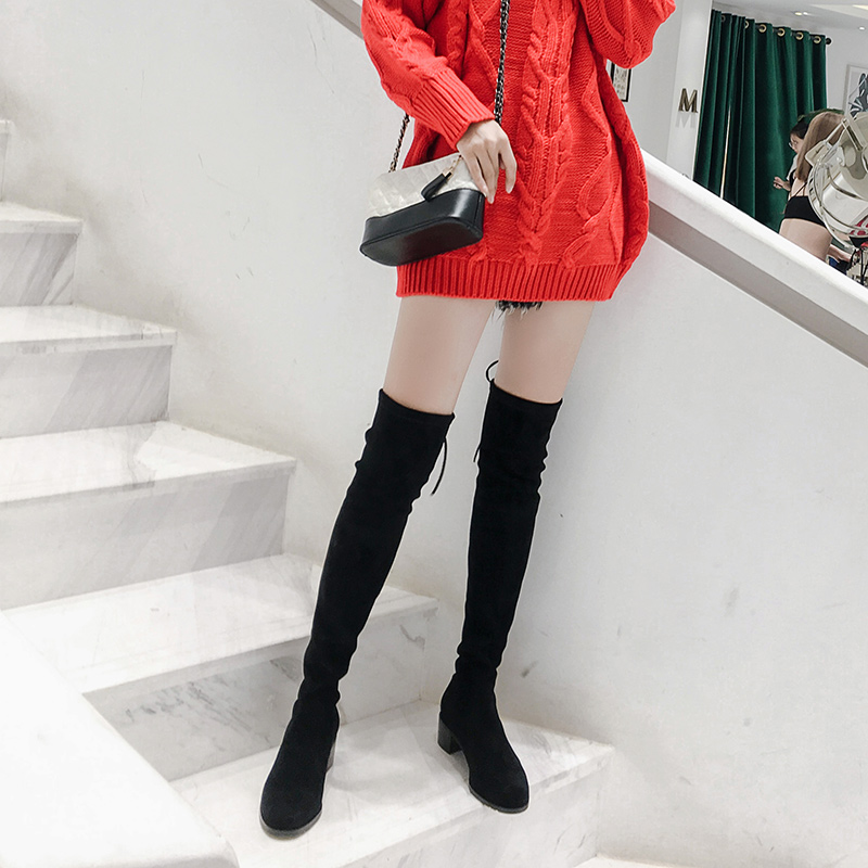 871b033b84b Small pepper knee boots women s boots high-heeled knee boots 2018 New  sw5050 stretch thick with high boots