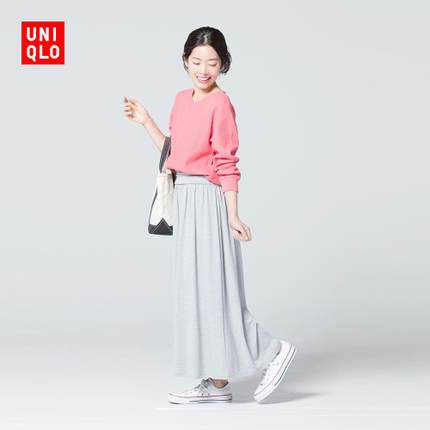 ¥59 UNIQLO 优衣库 女装两穿长裙