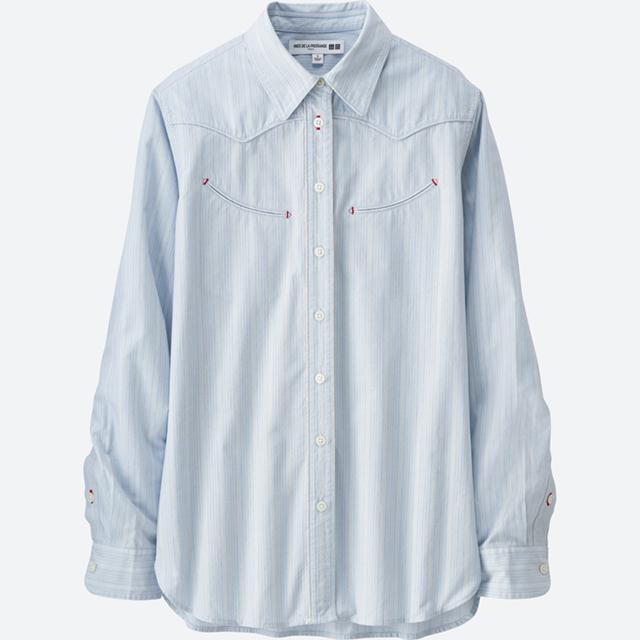 女装IDLF全棉提花衬衫(长袖)