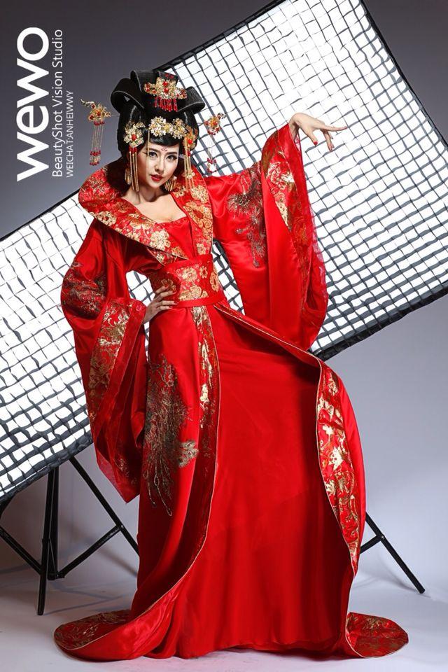USD 133.39] Bridal dress Tang costume Han Chinese wedding wedding ...