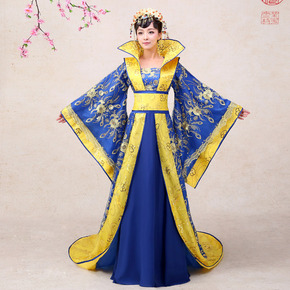 Han women's Chinese Style Black Costume Costume Queen's concubine tailed Princess ancient stage Tang costume performance