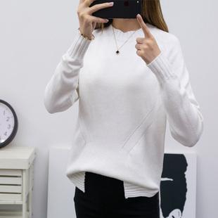 2018新款大码慵懒风针织衫长袖女毛衣
