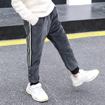 男童加棉燈芯絨加厚長褲