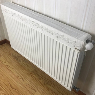 Heating radiator cover cloth fabric dust cover preventing blackened white cotton canvas cover simple solid dust cover