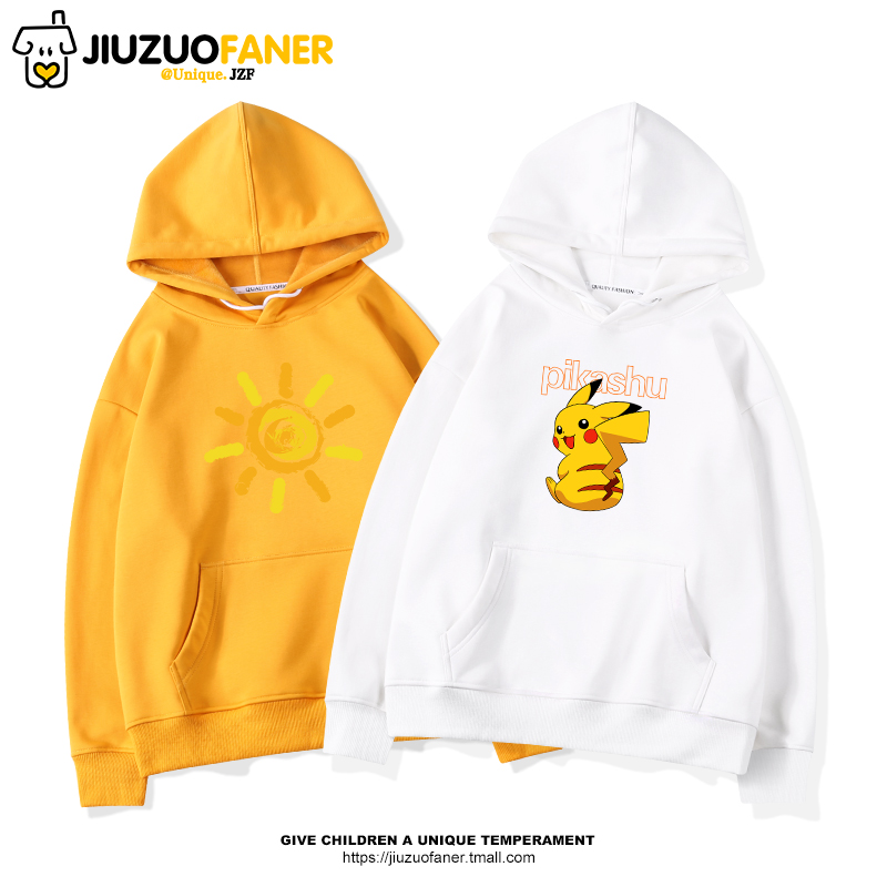 Pikachu girls autumn hooded sweater 2019 new tide 12-15 years old children's clothes in large children's thin jacket