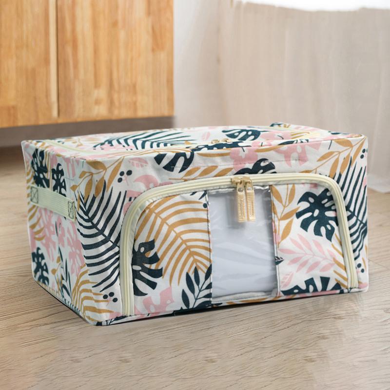 特大号棉麻收纳箱布艺衣物整理盒箱子 可折叠储物袋 家用衣柜神器