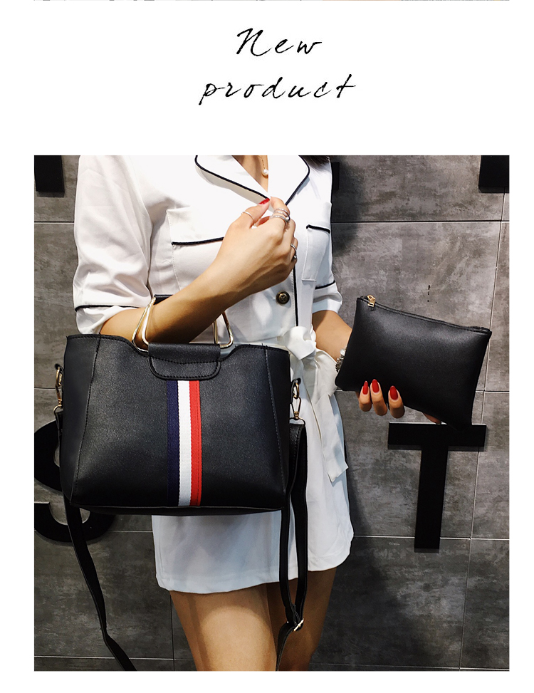 Women Bag Handbag Purse Ladies PU Leather Crossbody Bag 2Pcs/Leisure bag capacity big bag wholesale gray 22x21x10cm 6