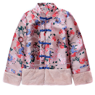 European station 2020 embroidery retro Tang cloth buckle jacket autumn and winter new jacket short top jacket female new year