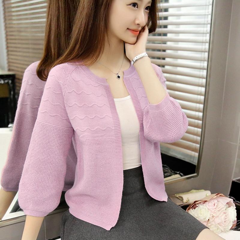 针织衫女开衫薄外套2016夏装新款短款毛衣镂空外搭小披肩 防晒衫