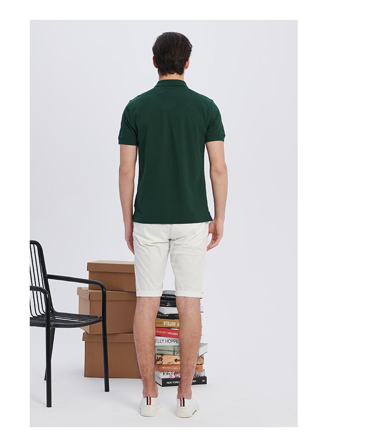 PLORY2018 mùa hè người đàn ông mới của mẫu thêu POLO áo sơ mi giản dị ngắn tay áo Slim POHA824001 áo sơ mi polo