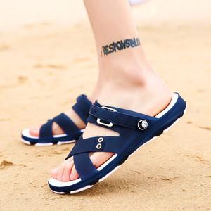 2018 mùa hè mới của nam giới dép bãi biển bình thường giày không trượt khử mùi dép sinh viên dual-sử dụng lỗ ngoài trời giày