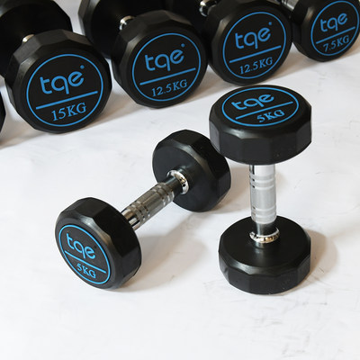 Qiaoch Jacchuan fixed PU dumbbell men's fitness home commercial dumbbell private education 12-side environmentally friendly flavor