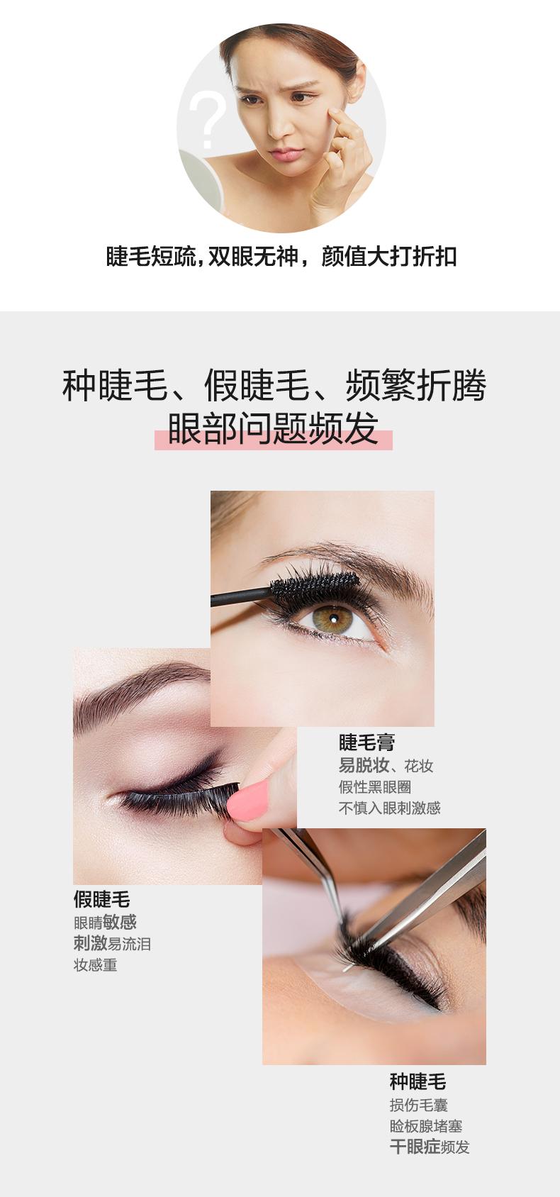 丰添睫毛眉毛滋养修护纤长精华液生长增长自然浓密眼睫毛正品详细照片