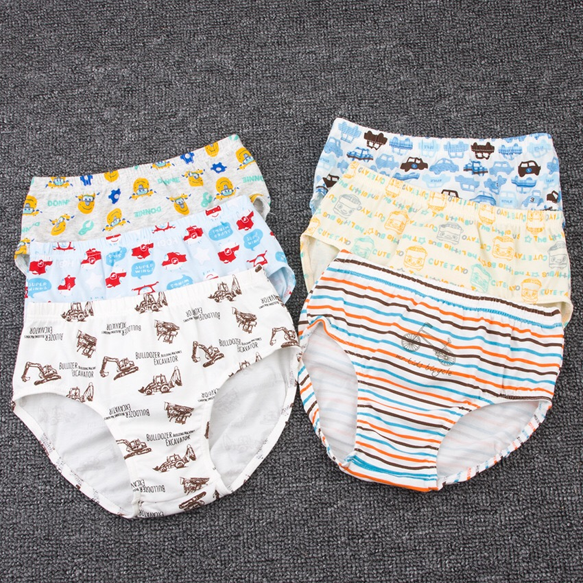 3 Pack 2 boys cotton 4 briefs 5 children 6 small boys 7 breathable cotton cartoon 9 years old Class A bottoms