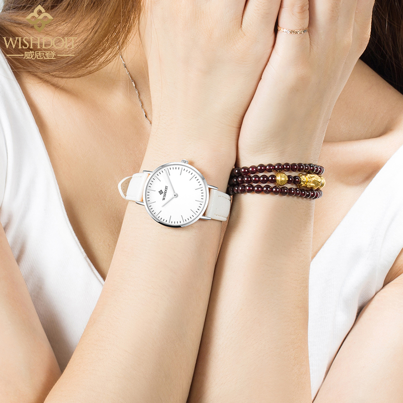 WHITE SIDE WHITE FACE WHITE STRAP FEMALE WATCH