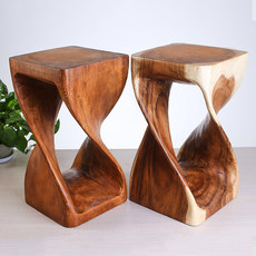 Thailand imported creative color solid wood stool stool home art simple wood stool solid wood pier sale