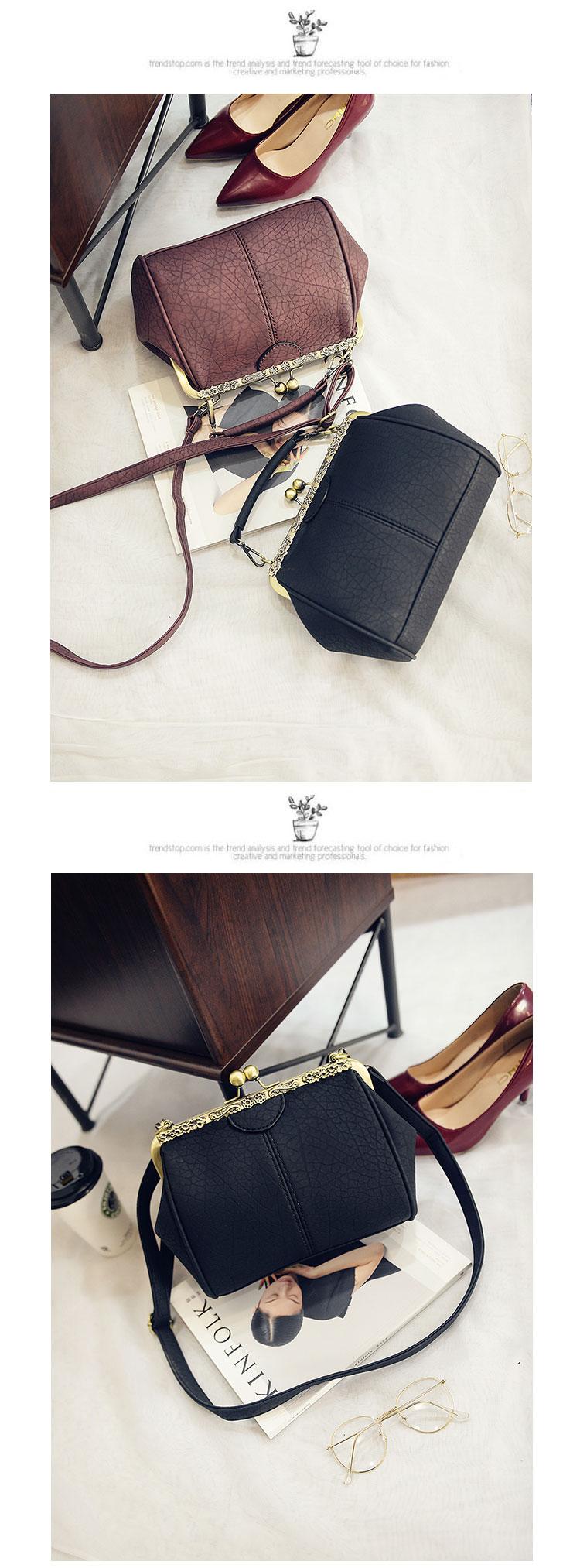 กระเป๋าสะพาย แฟชั่นเกาหลีแนววินเทจถือและมีสายยาวรุ่นใหม่สวย นำเข้า - พรีออเดอร์IS1058