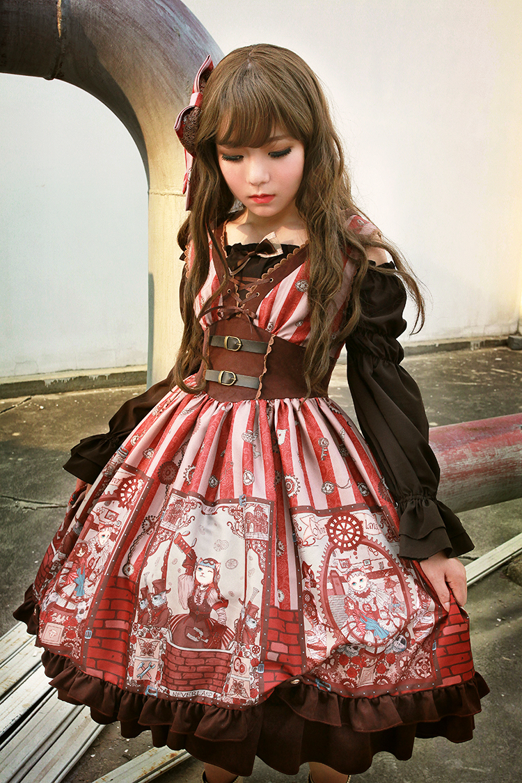 Description. Souffle Song Ste&unk Cat ...  sc 1 st  Glitzy Wonderland & Souffle Song Steampunk Cat Lolita Blouse