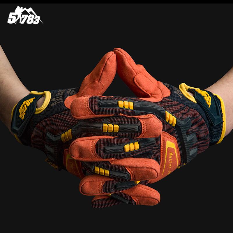 51783 军迷户外装备梵挲全指手套男登山防护格斗运动技师战术手套