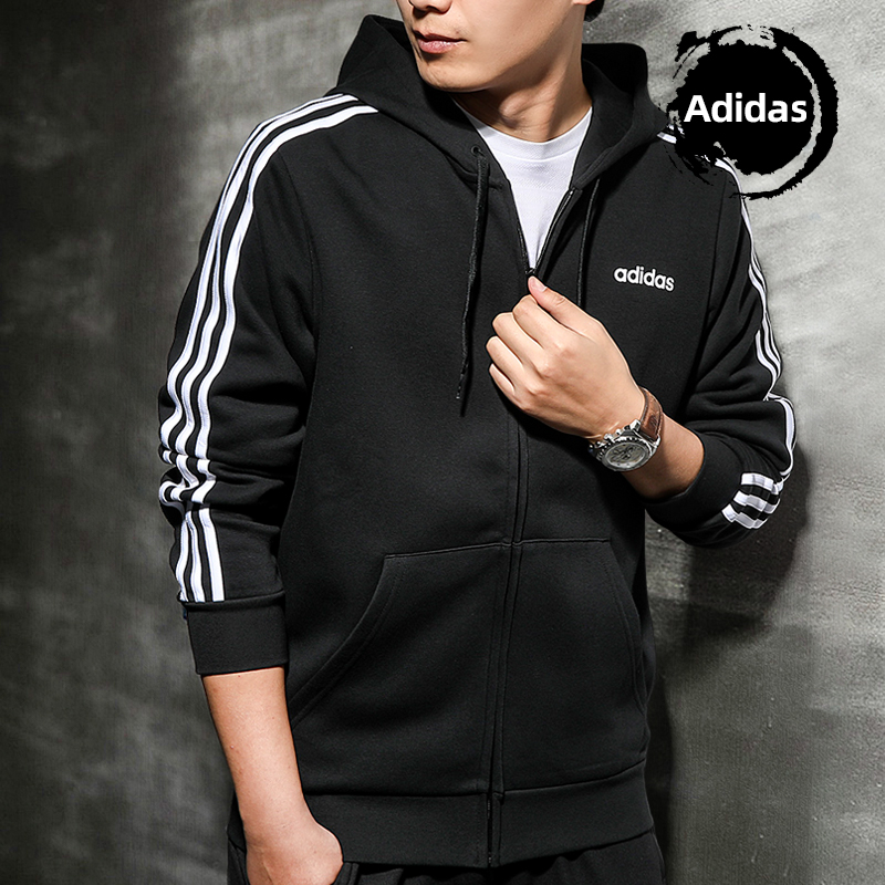 adidas adidas 2019 new autumn and winter coat male hooded tracksuit jogging warm casual jacket