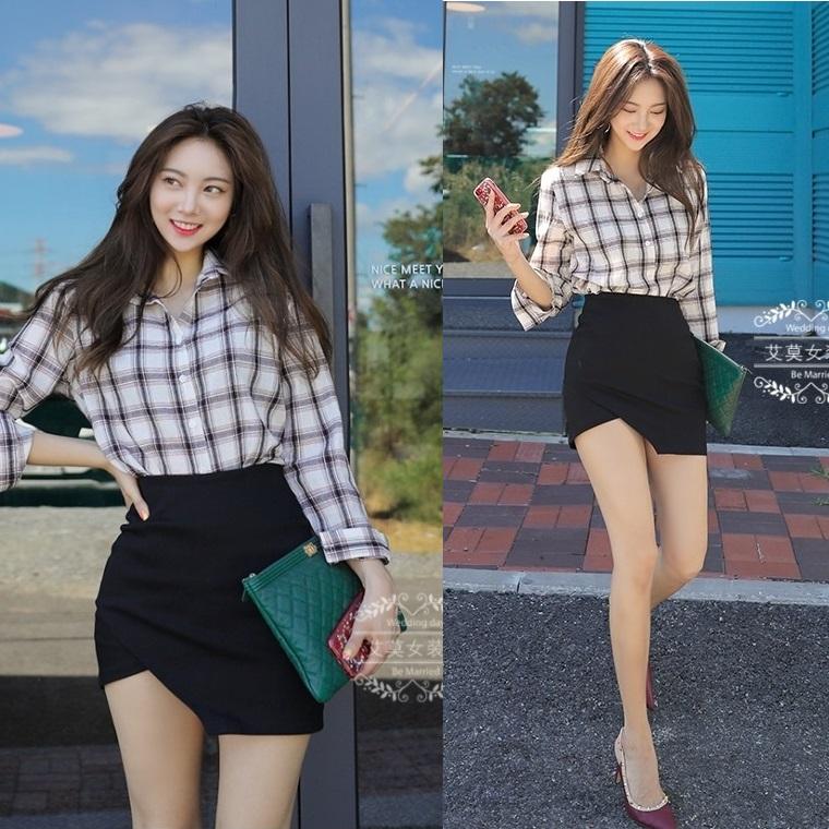 不规则弹力2019黑色腰短裙新高一步裙显长腿ins紧身裙半身包臀裙