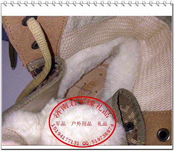 Сапоги армейские Новый пустынный камуфляж холодной погоды сапоги кашемир теплые сапоги обновить анти-холодной обуви, такие как подделка отдавать