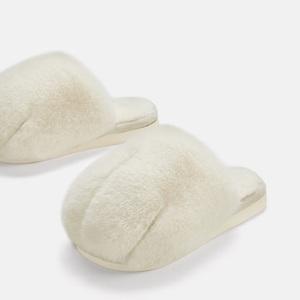 朴西猫爪棉拖鞋女冬天室内可爱厚底家用家居冬季毛绒保暖儿童拖鞋