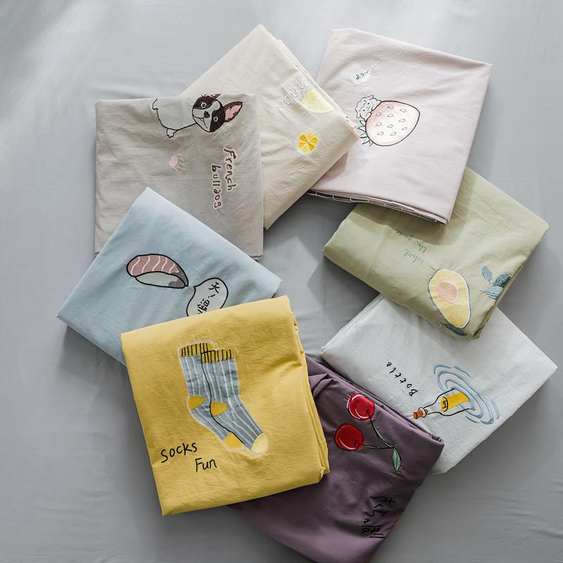 Giặt bông mền che một mảnh chăn đơn 1,5m đôi 1,8m 200x230 ký túc xá sinh viên - Quilt Covers