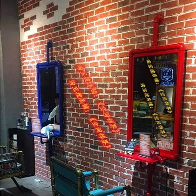Barber Shop Wrought Iron Mirror Industrial Wind Retro Beauty Salon