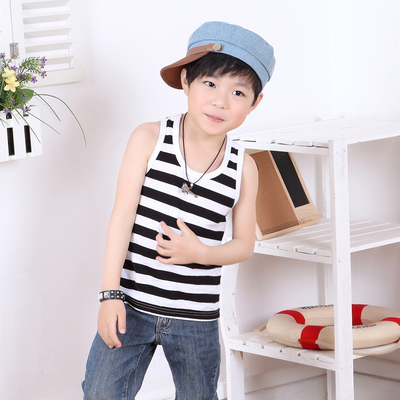 2017 children's vest batch 1-8 years old with a variety of stripes 6 yard children's striped vest factory outlets
