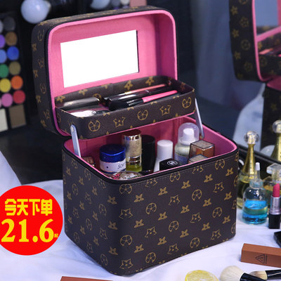 Cosmetic bag female portable super large capacity multi-function storage box 2020 new super fire advanced touch box