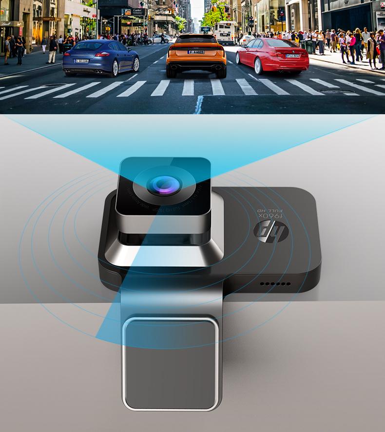 惠普 F960X 高清夜视行车记录仪 赠32G内存卡 内置电子狗 图17